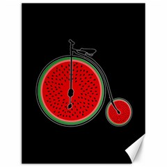 Watermelon Bicycle  Canvas 12  X 16   by Valentinaart