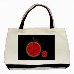 Watermelon Bicycle  Basic Tote Bag (two Sides) by Valentinaart