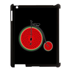 Watermelon Bicycle  Apple Ipad 3/4 Case (black) by Valentinaart