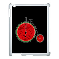 Watermelon Bicycle  Apple Ipad 3/4 Case (white) by Valentinaart