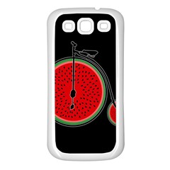 Watermelon Bicycle  Samsung Galaxy S3 Back Case (white) by Valentinaart