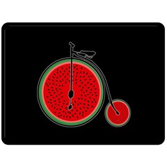 Watermelon Bicycle  Double Sided Fleece Blanket (large)