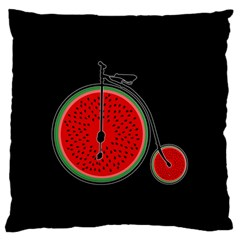 Watermelon Bicycle  Large Flano Cushion Case (one Side) by Valentinaart