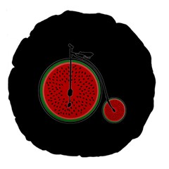 Watermelon Bicycle  Large 18  Premium Flano Round Cushions