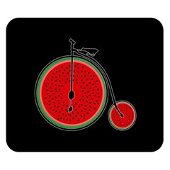 Watermelon Bicycle  Double Sided Flano Blanket (small)