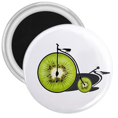 Kiwi Bicycle  3  Magnets by Valentinaart