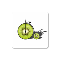 Kiwi Bicycle  Square Magnet by Valentinaart