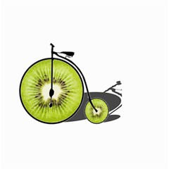 Kiwi Bicycle  Small Garden Flag (two Sides) by Valentinaart