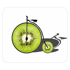 Kiwi Bicycle  Double Sided Flano Blanket (small)