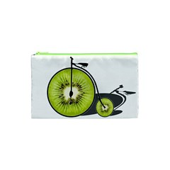 Kiwi Bicycle  Cosmetic Bag (xs) by Valentinaart