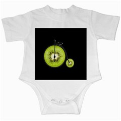 Kiwi Bicycle  Infant Creepers by Valentinaart