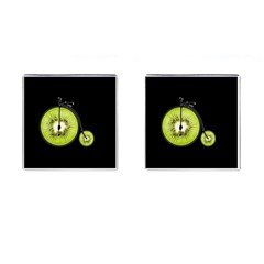 Kiwi Bicycle  Cufflinks (square) by Valentinaart