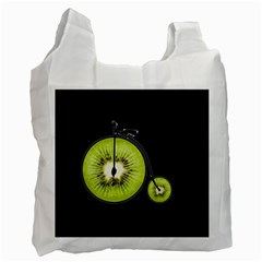 Kiwi Bicycle  Recycle Bag (two Side)  by Valentinaart