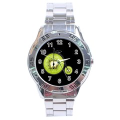 Kiwi Bicycle  Stainless Steel Analogue Watch