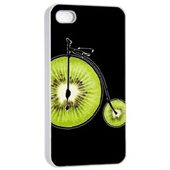 Kiwi Bicycle  Apple Iphone 4/4s Seamless Case (white) by Valentinaart