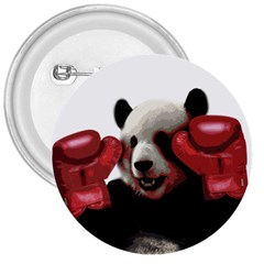 Boxing Panda  3  Buttons by Valentinaart
