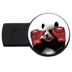 Boxing Panda  Usb Flash Drive Round (4 Gb) by Valentinaart