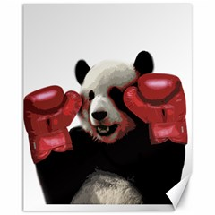 Boxing Panda  Canvas 11  X 14   by Valentinaart