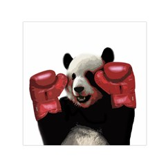 Boxing Panda  Small Satin Scarf (square) by Valentinaart
