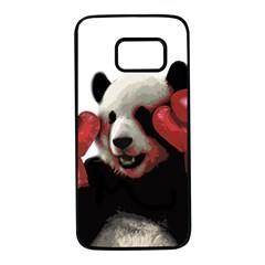Boxing Panda  Samsung Galaxy S7 Black Seamless Case by Valentinaart