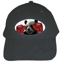 Boxing Panda  Black Cap by Valentinaart