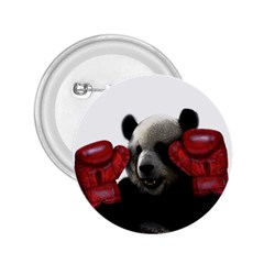 Boxing Panda  2 25  Buttons by Valentinaart
