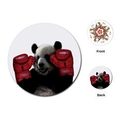 Boxing Panda  Playing Cards (round)  by Valentinaart