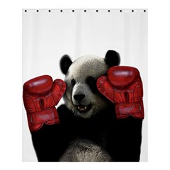 Boxing Panda  Shower Curtain 60  X 72  (medium)  by Valentinaart