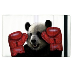 Boxing Panda  Apple Ipad 2 Flip Case by Valentinaart
