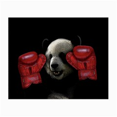 Boxing Panda  Small Glasses Cloth (2-side) by Valentinaart