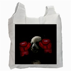 Boxing Panda  Recycle Bag (one Side) by Valentinaart