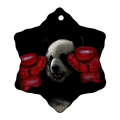 Boxing Panda  Ornament (snowflake) by Valentinaart