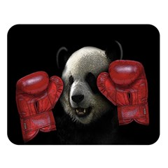 Boxing Panda  Double Sided Flano Blanket (large)  by Valentinaart