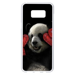 Boxing Panda  Samsung Galaxy S8 Plus White Seamless Case by Valentinaart