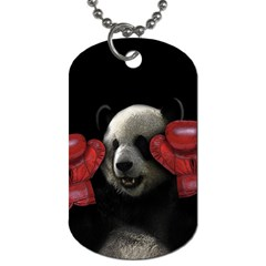 Boxing Panda  Dog Tag (two Sides) by Valentinaart