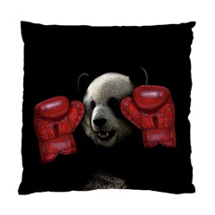 Boxing Panda  Standard Cushion Case (one Side) by Valentinaart