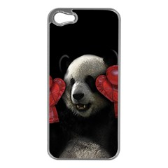 Boxing Panda  Apple Iphone 5 Case (silver)