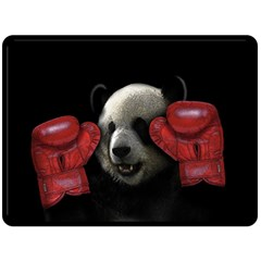 Boxing Panda  Double Sided Fleece Blanket (large)  by Valentinaart