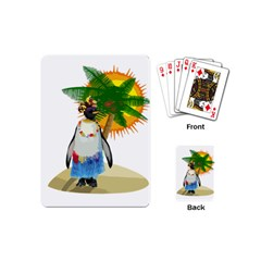 Tropical Penguin Playing Cards (mini)  by Valentinaart