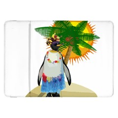 Tropical Penguin Samsung Galaxy Tab 8 9  P7300 Flip Case