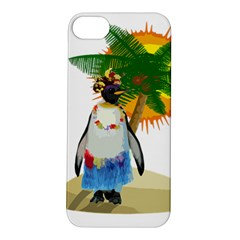 Tropical Penguin Apple Iphone 5s/ Se Hardshell Case by Valentinaart