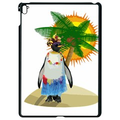 Tropical Penguin Apple Ipad Pro 9 7   Black Seamless Case by Valentinaart