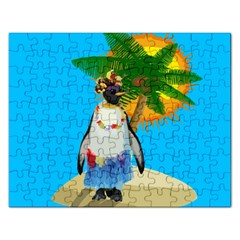 Tropical Penguin Rectangular Jigsaw Puzzl