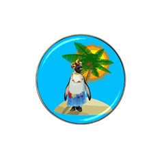 Tropical Penguin Hat Clip Ball Marker (4 Pack) by Valentinaart