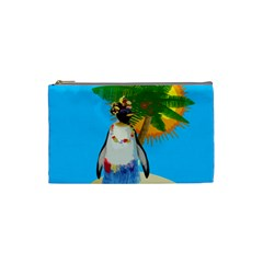 Tropical Penguin Cosmetic Bag (small)  by Valentinaart