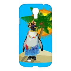 Tropical Penguin Samsung Galaxy S4 I9500/i9505 Hardshell Case by Valentinaart