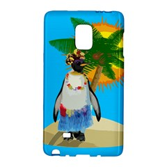 Tropical Penguin Galaxy Note Edge by Valentinaart
