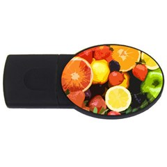 Fruits Pattern Usb Flash Drive Oval (4 Gb) by Valentinaart