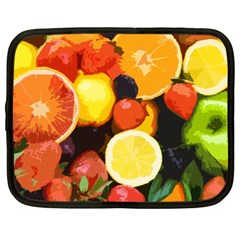 Fruits Pattern Netbook Case (large) by Valentinaart