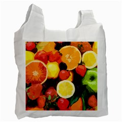 Fruits Pattern Recycle Bag (one Side) by Valentinaart